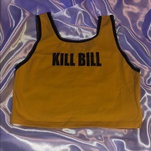 ⚠️ yellow kill bill tank crop top ⚠️